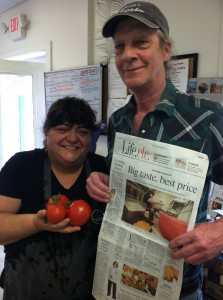 Angelina and John get a great story in the local paper!